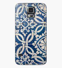 Portugiesisches Azulejo der Weinlese Hülle & Klebefolie für Samsung Galaxy