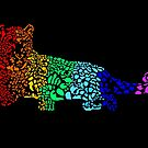 Psychedelic, Glowing Leopard by pinklioness