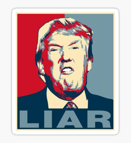 Trump Liar Poster T-shirt Sticker