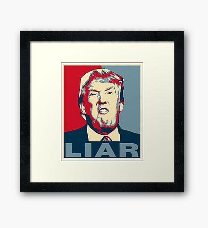 Trump Liar Poster T-shirt Framed Print
