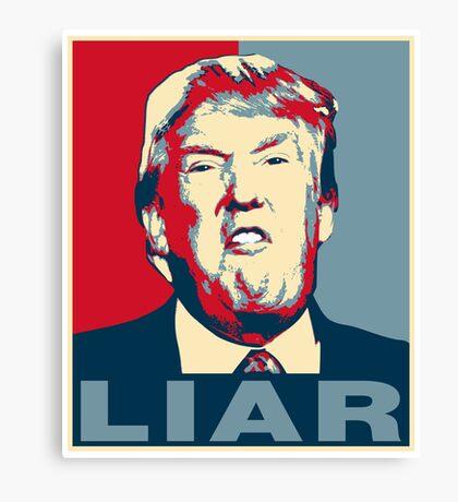 Trump Liar Poster T-shirt Canvas Print