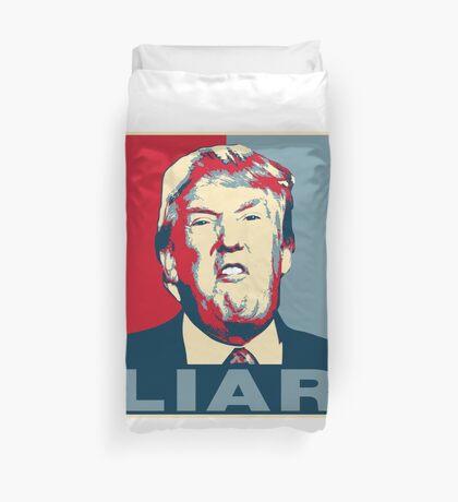 Trump Liar Poster T-shirt Duvet Cover