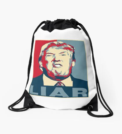 Trump Liar Poster T-shirt Drawstring Bag