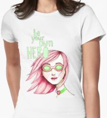 Be Your Own Hero - Pink Version Women's Fitted T-Shirt
