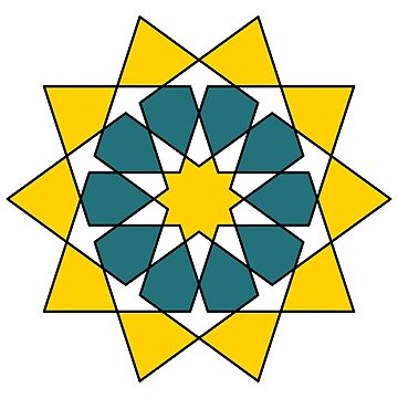 Islamic 10 Pointed Star  by rupertrussell