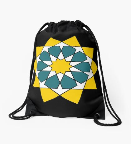 Islamic 10 Pointed Star  Drawstring Bag