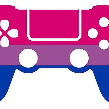 Gaymer - Bisexual Pride PS4 by ay-zup