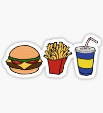 Burger Fries Soda Sticker