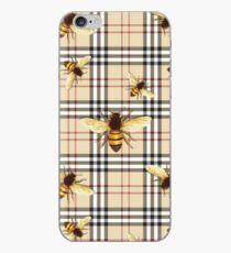 Tartan-Bienen iPhone-Hülle & Cover