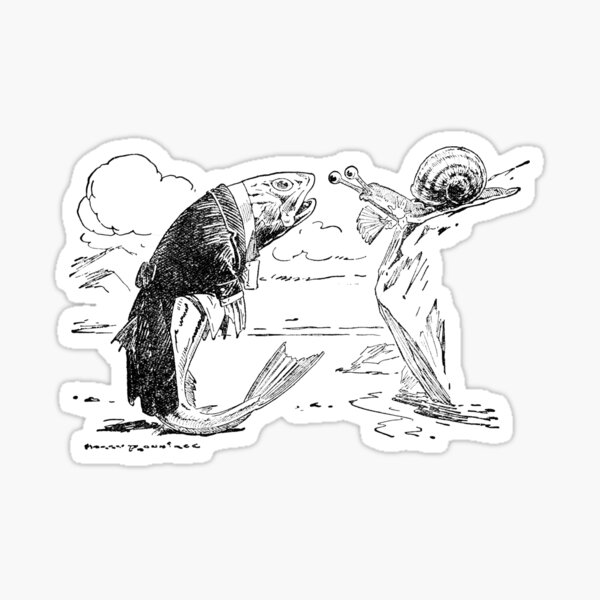 The Whiting and the Snail Sticker