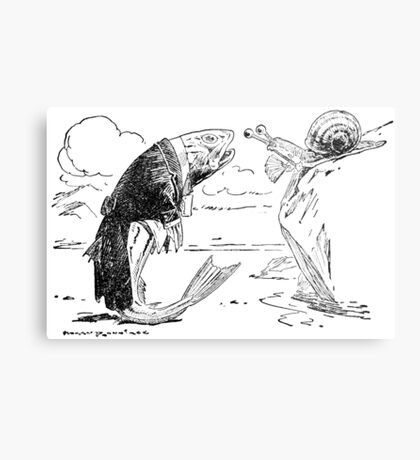 The Whiting and the Snail Metal Print