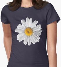Daisies & Peaches - Daisy Pattern on Pink Womens Fitted T-Shirt