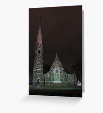 Cathedral at night Greeting Card