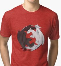 Toothless and the Light Fury Tri-blend T-Shirt