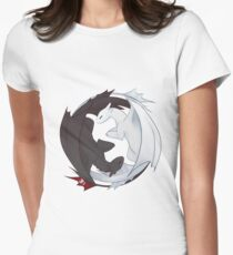 Toothless and the Light Fury Women's Fitted T-Shirt