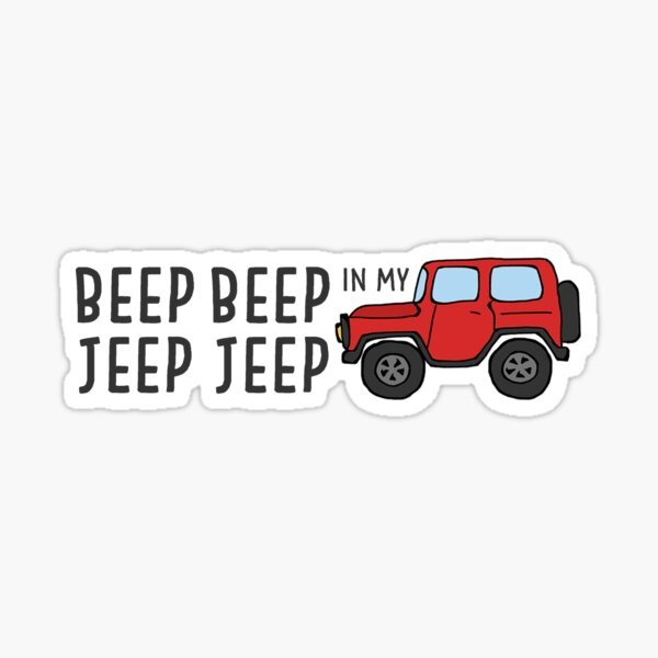 Bip Bip dans ma Jeep Jeep Sticker