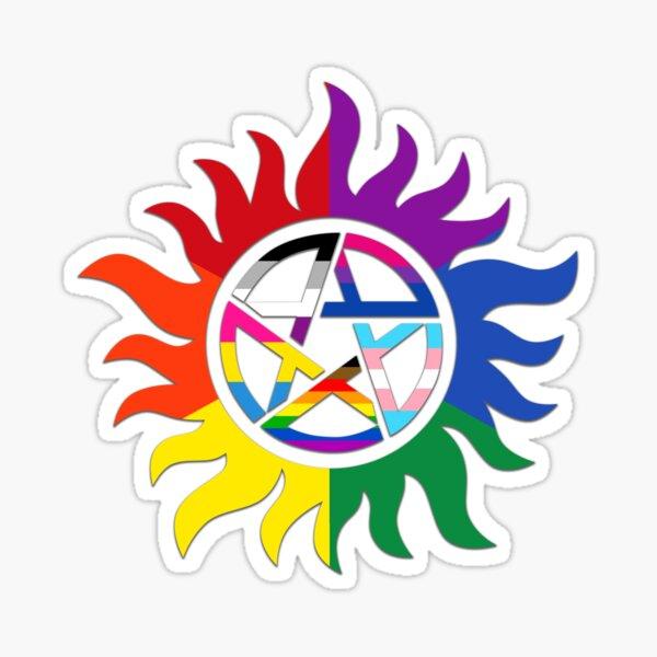 SPN Pride: Multi Flag 2 Sticker