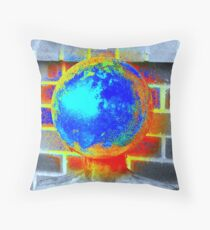 World on my shoulders Throw Pillow