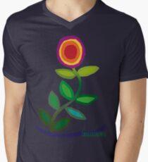 Thriving Flower Mens V-Neck T-Shirt