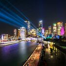 Interactive Laser Show during Vivid Sydney by Danielasphotos
