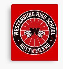 Westerburg High School Rottweilers (Heathers) Canvas Print