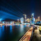 Sydney Skyline dressed in deep blue tones by Danielasphotos
