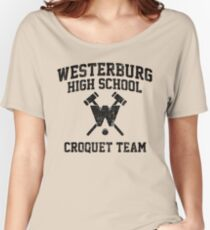 Westerburg High School Croquet Team (Heathers) Women's Relaxed Fit T-Shirt