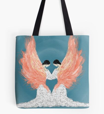 Two Women Two scarves Tote Bag