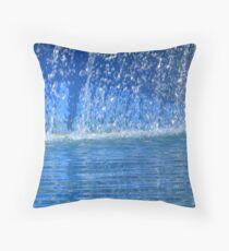 Cool Blue Rush Throw Pillow
