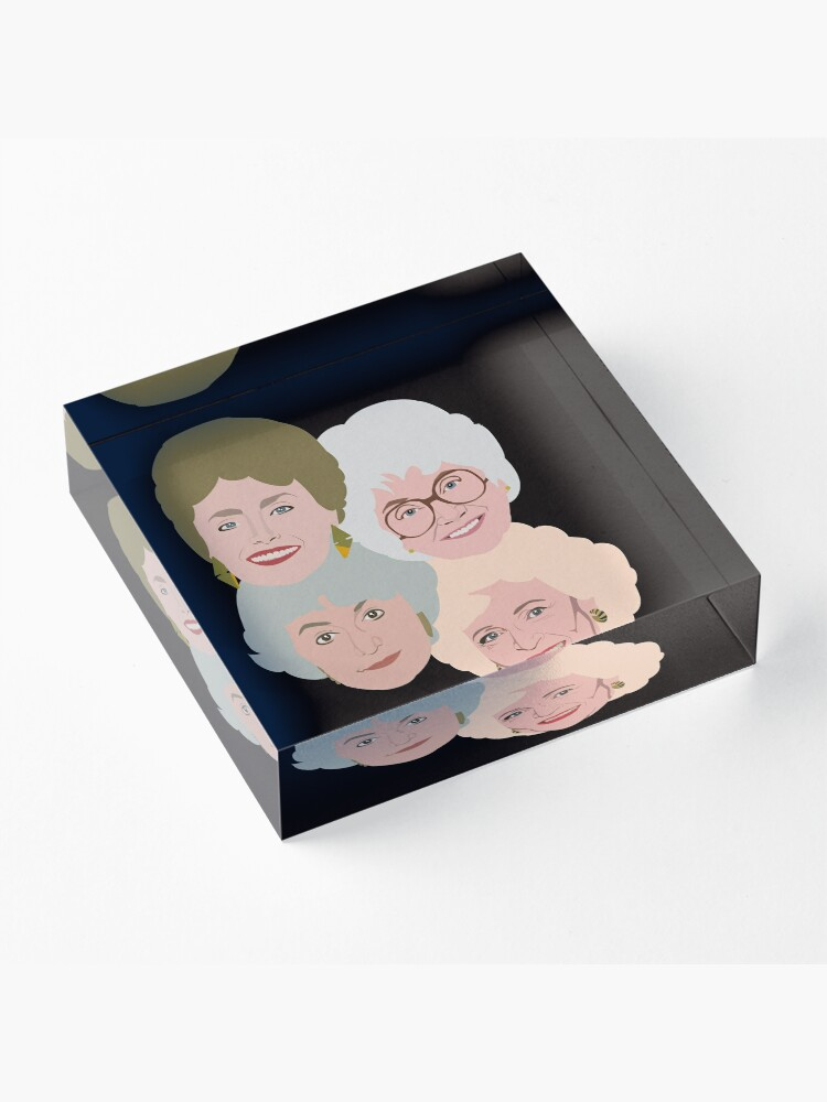 Alternate view of The Golden Girls Acrylic Block