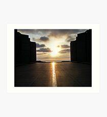 Vernal Equinox Sunset Art Print