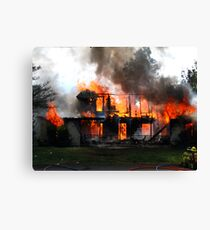 Controlled House on Fire  Canvas Print