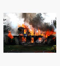 Controlled House on Fire  Photographic Print