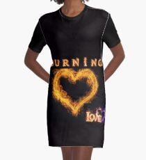 Burning Love Graphic T-Shirt Dress