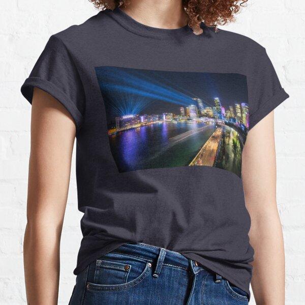 Laser Show above the Sydney Skyline Classic T-Shirt