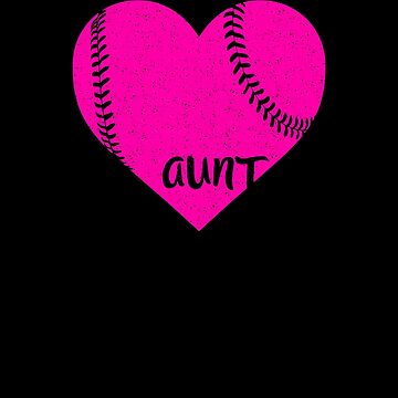 Baseball Aunt Pink Heart Shirt by Clort