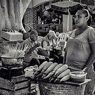 Lady at the Cartagena Christmas Festival by Deborah V Townsend