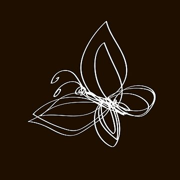 butterfly on a black by Mila-Che