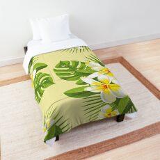 Tropical Bouquet. Plumeria Comforter