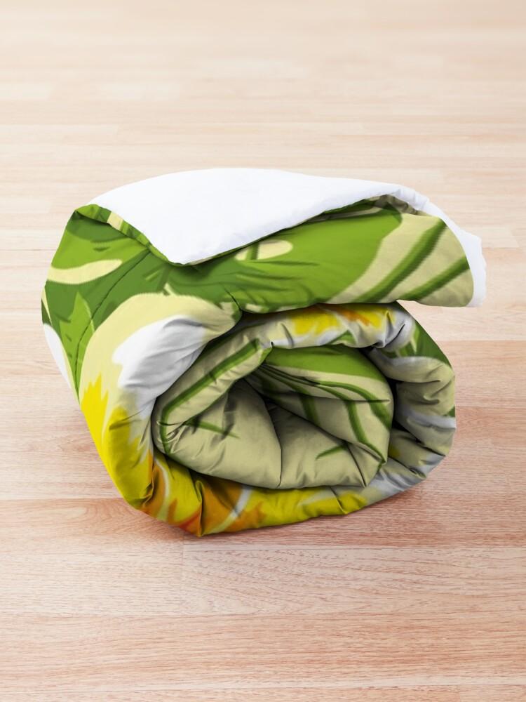 Alternate view of Tropical Bouquet. Plumeria Comforter