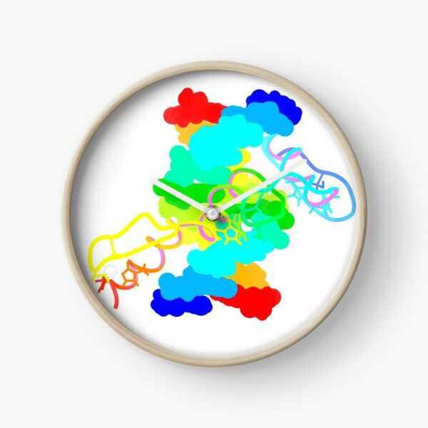 Rainbow Zinc Finger Clock