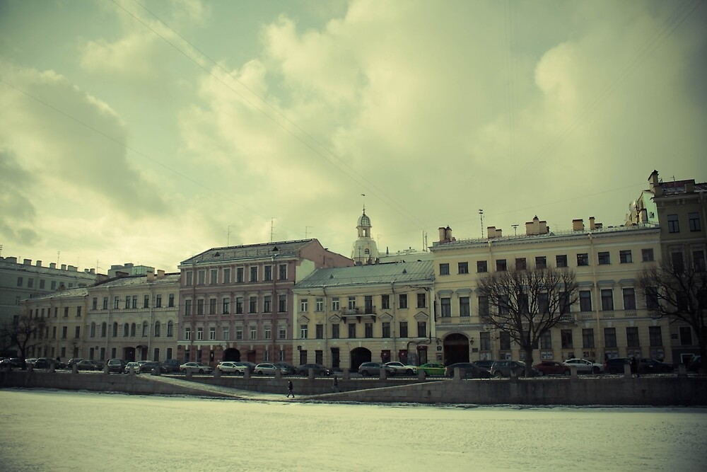 The embankment of the Fontanka River  St. Petersburg by LoraSi