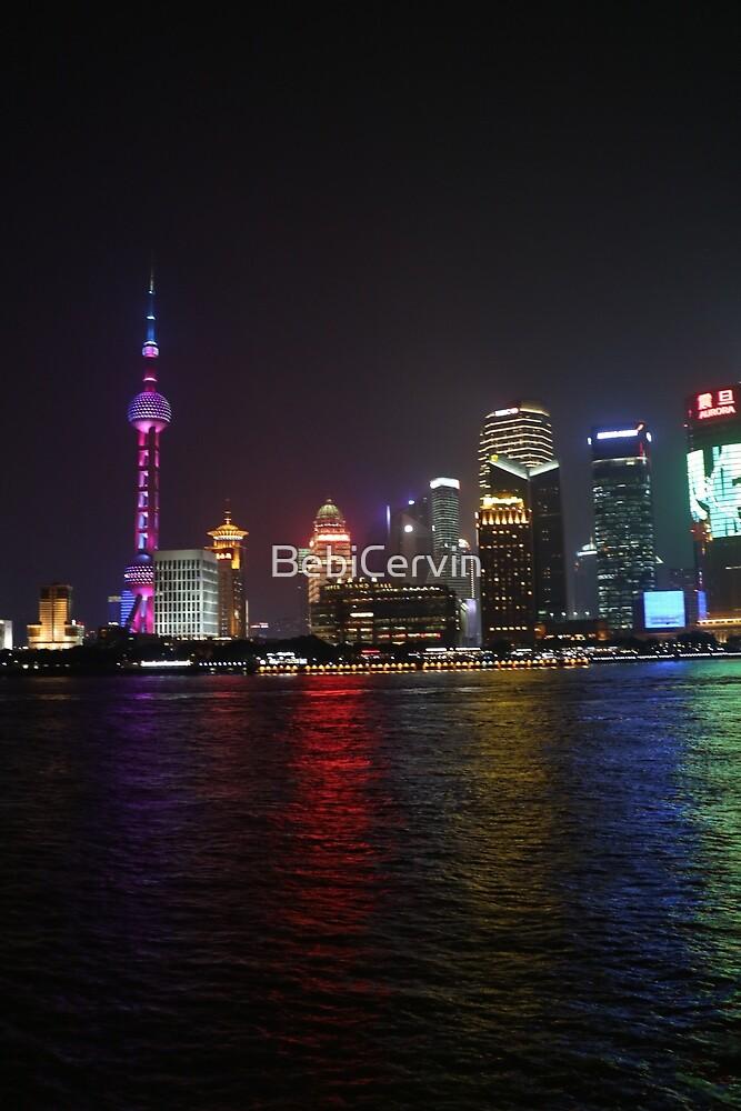 Asia, China, Shanghai, Bund, by night, photography, BebiCervin by BebiCervin