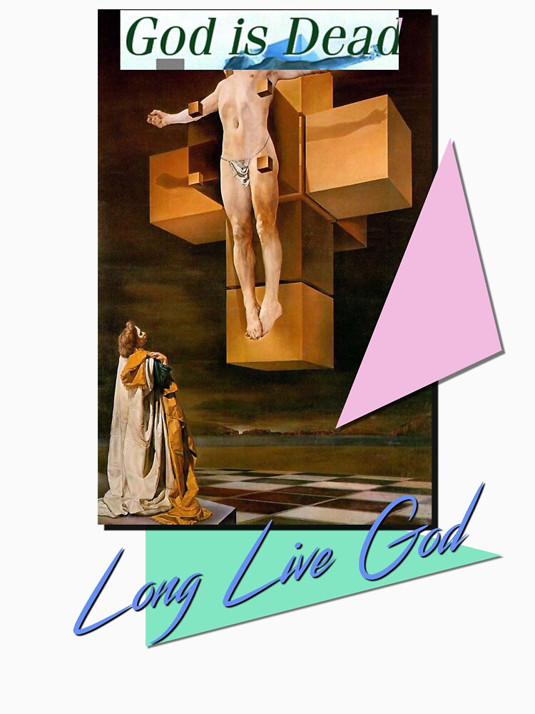 GOD IS DEAD LONG LIVE GOD (Dali Christus Hypercubus) by fascthetics