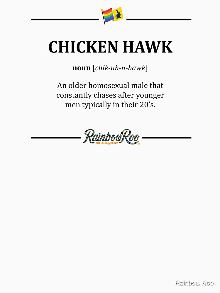 LGBT Dictionary Chicken Hawk Pride  by TheRainbowRoo