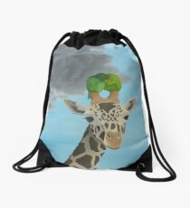 bird transportation Drawstring Bag