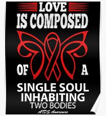 Love is Composed of a single soul inhabiting two Bodies. AIDS Awareness Quote  Poster