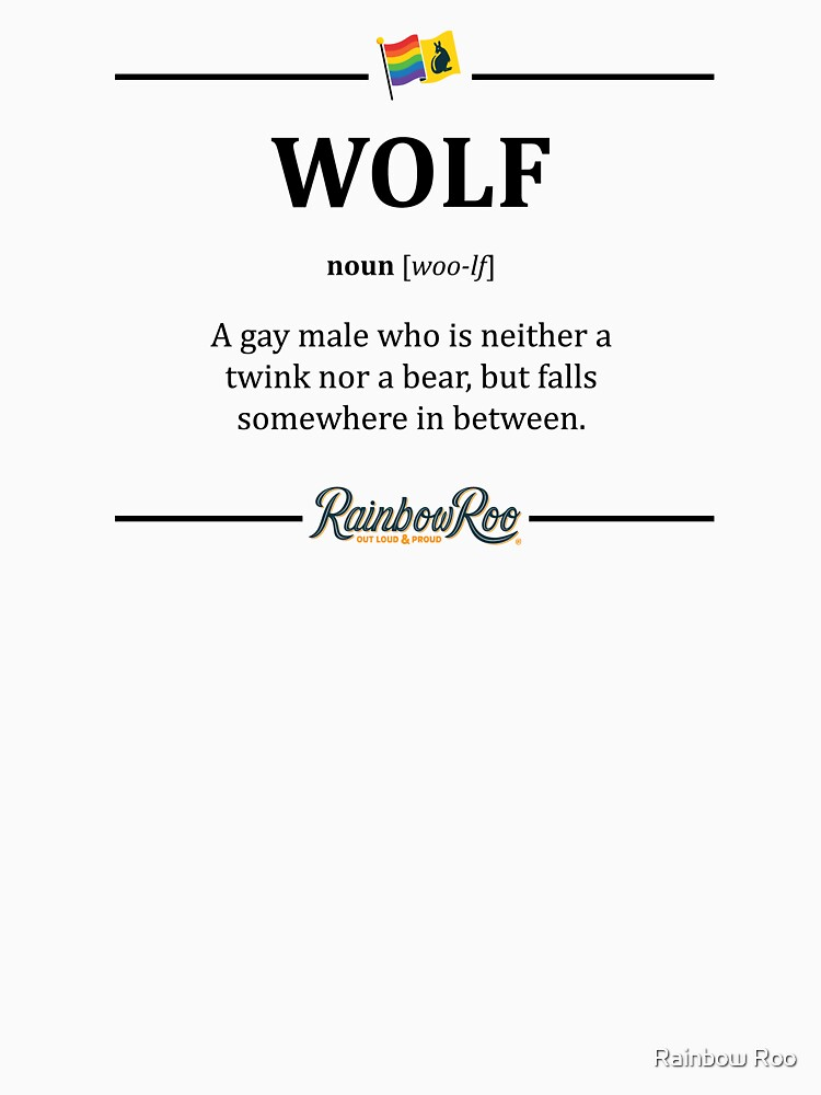 LGBT Gay Dictionary Wolf Pride  by TheRainbowRoo