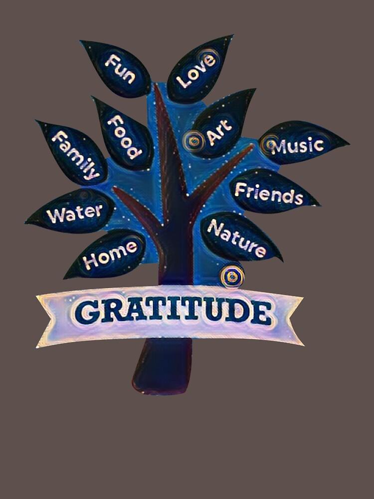 Gratitude Heart Design - Grateful - Thankful by JuditR