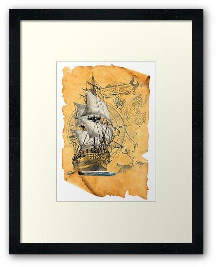 sailing ship by Sibo Miller